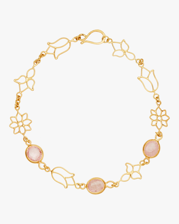 Pippa Small Burmese Lotus Open Wire Chain Bracelet 0