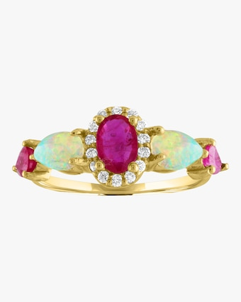 Oval Pear Color Ring