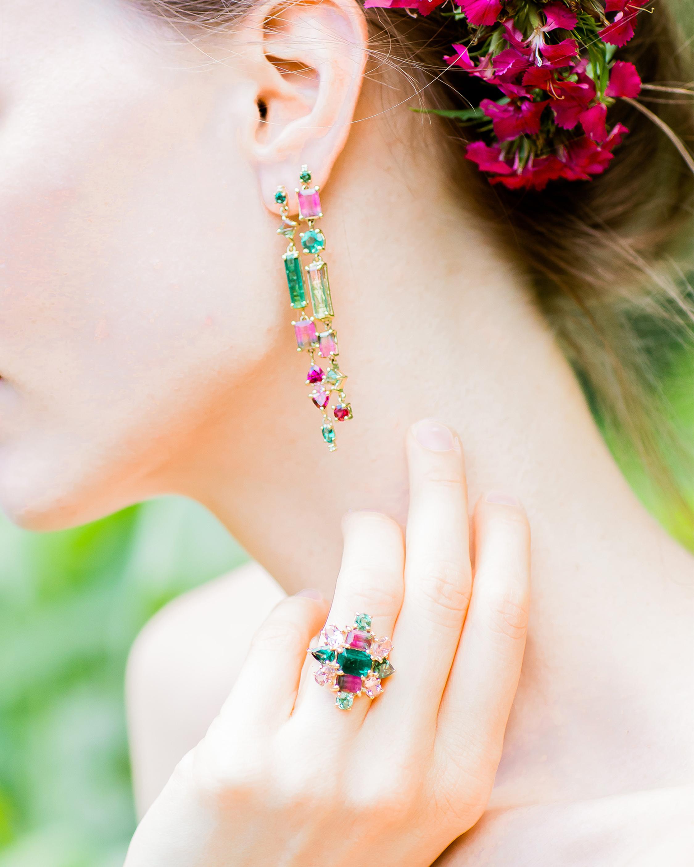 Mixed Tourmaline Earrings