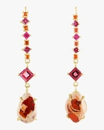 Eden Presley Mixed Tourmaline, Sapphire and Opal Earrings 0