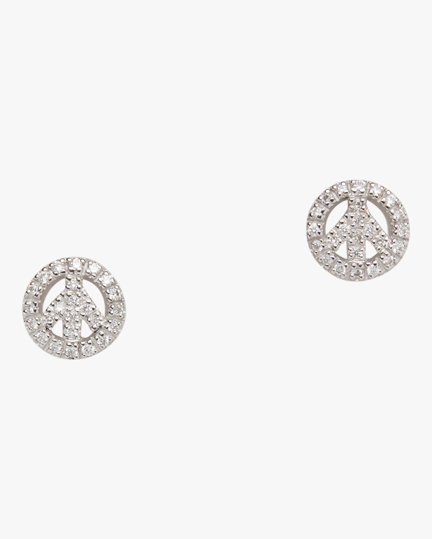 Diamond Baby Peace Earrings