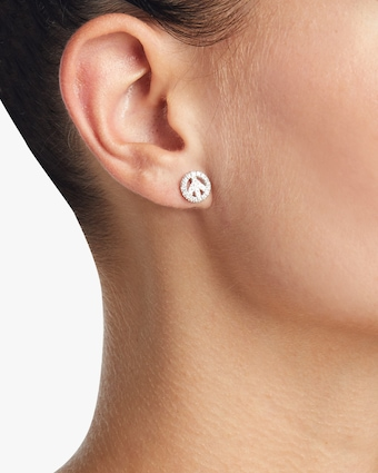 Diamond Baby Peace Earrings