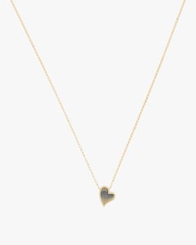 Small Slanted Heart Necklace