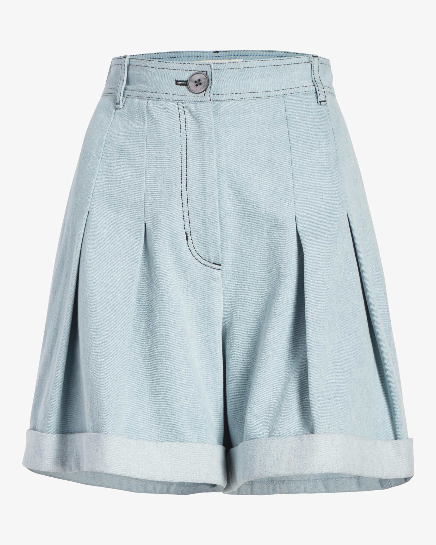 Pleated Cuff Shorts