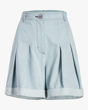 Pleated Cuff Shorts