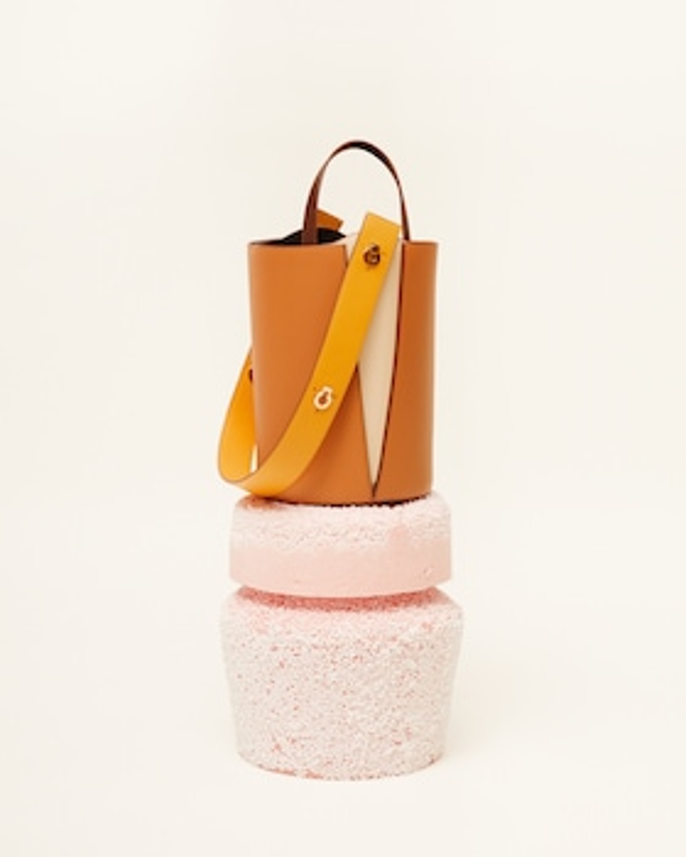 Mini Lorna Leather Bucket Bag