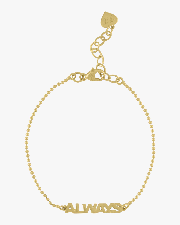 Golden Word Bead Chain Bracelet
