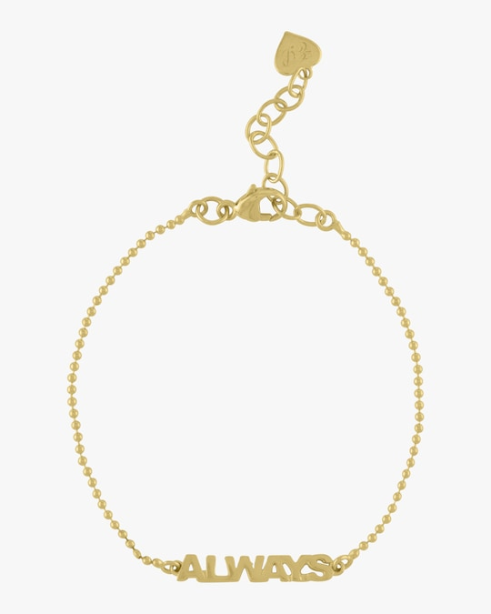Eden Presley Golden Word Bead Chain Bracelet 0