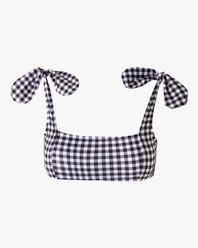 Morioka Gingham Swimsuit Top
