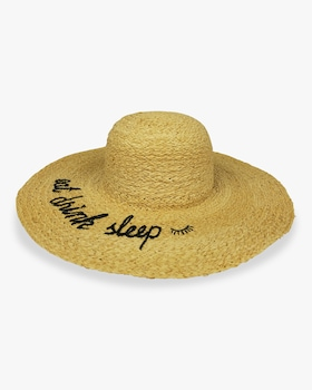 """Eat Drink Sleep"" What's Your Motto Sunhat"