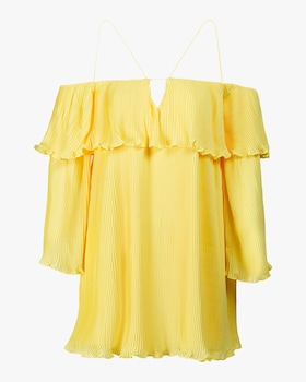 Crystal Galicia Pleated Mini Dress