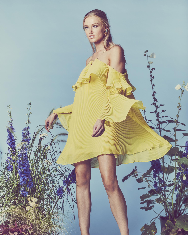 Crystal Galicia Pleated Mini Dress