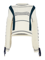 Carven Lace-Up Sweater 0