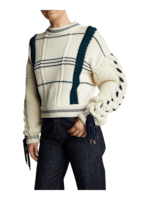 Carven Lace-Up Sweater 2
