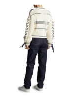 Carven Lace-Up Sweater 3