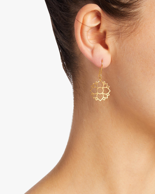 Burmese Single Lotus Earrings