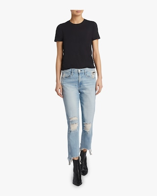 W3 Straight Authentic Crop jean