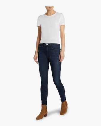 W3 High Rise Channel Seam Skinny Jean