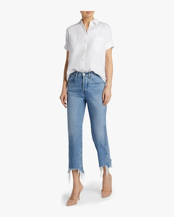 W4 Shelter Frayed Austin Crop Jean