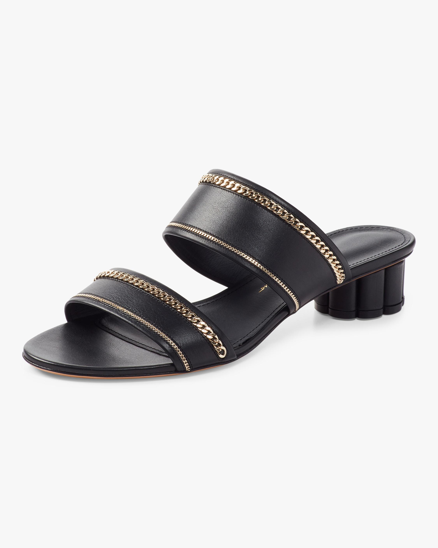 Belluno Lux Chain-Trim Sandals