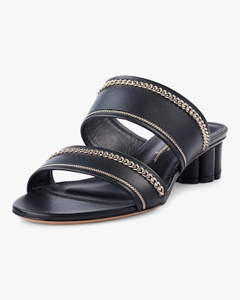 Belluno Lux Chain-Trim Sandals
