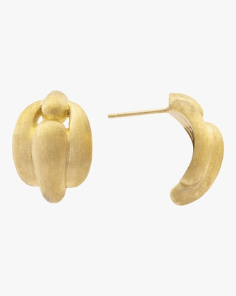 Lucia Gold Link Stud Earrings
