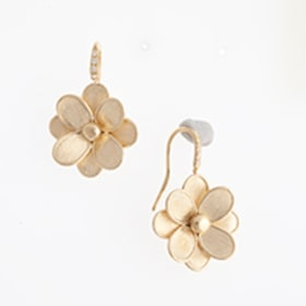Petail French Hook Flower Earrings