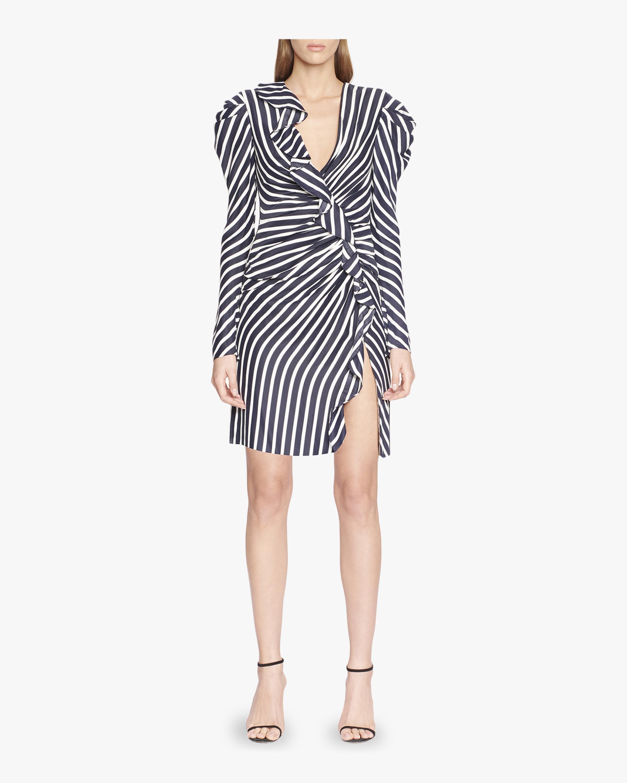 Ruffle Short Slit Dress