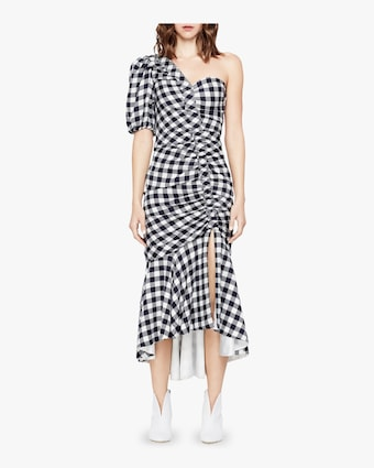 Ruched One Sleeve Dress