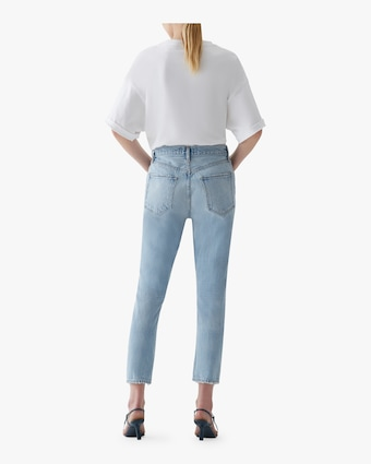 Riley Hi-Rise Straight Crop Jeans
