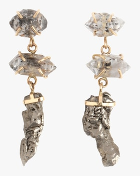 Crystal Three Drop Earrings