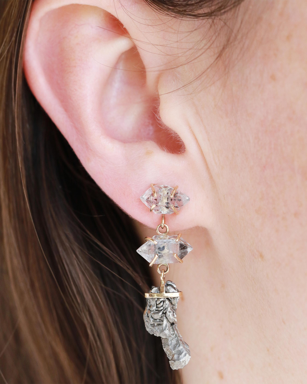 Melissa Joy Manning Crystal Three Drop Earrings 1