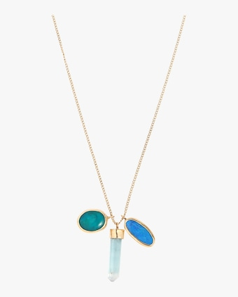 Opal Doublet And Gem Chrysocolla Necklace