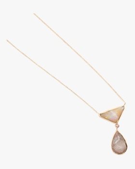 White Opal And Crystal Opal Necklace