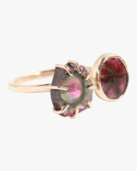 Ruby And Watermelon Tourmaline Ring