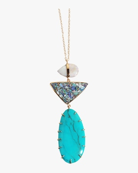 Australia Black Opal Necklace
