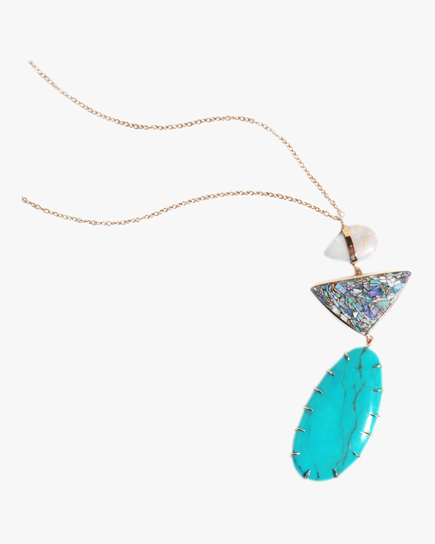 Australia Black Opal Necklace