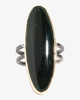 Goldstone Double Band Ring