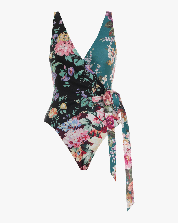 Allia Wrap One Piece Swimsuit