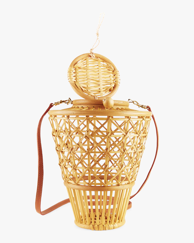 Julia Top Handle Bamboo Bucket Bag