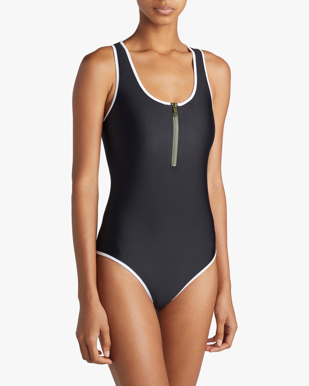 Zip One Piece Swimsuit