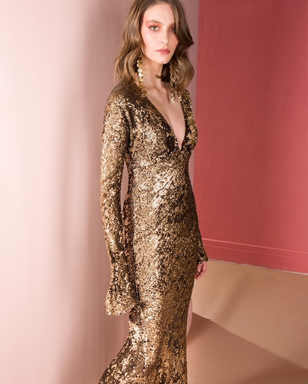 Maria Lucia Hohan Ailish Sequin Gown 1