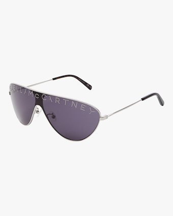 Logo Flat Top Sunglasses
