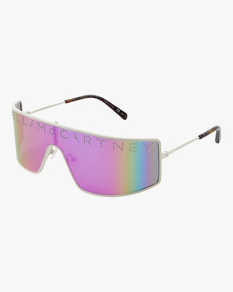 Logo Flat Mask Sunglasses