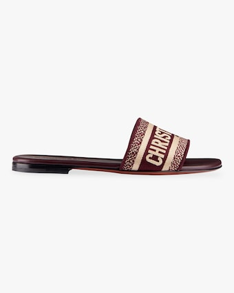 DWAY SLIDE - EMBROIDERED COTTON