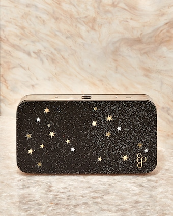 Star Embossed Acrylic Hardbody Metal Clutch