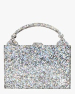 Edie Parker Housewife Glitter Acrylic Top-Handle Bag 0
