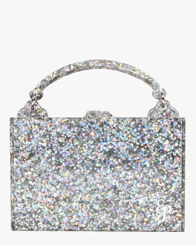 Housewife Glitter Acrylic Top-Handle Bag