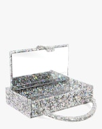 Edie Parker Housewife Glitter Acrylic Top-Handle Bag 1