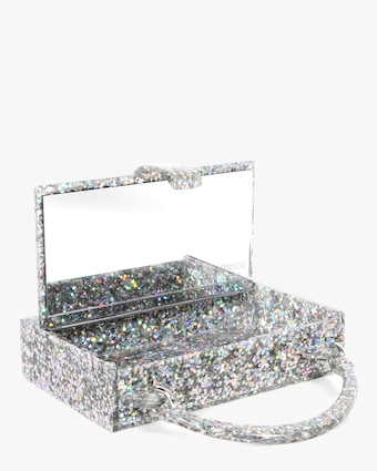 Edie Parker Housewife Glitter Acrylic Top-Handle Bag 2